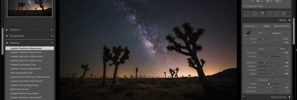 Lightroom Milky Way Processing Tutorial