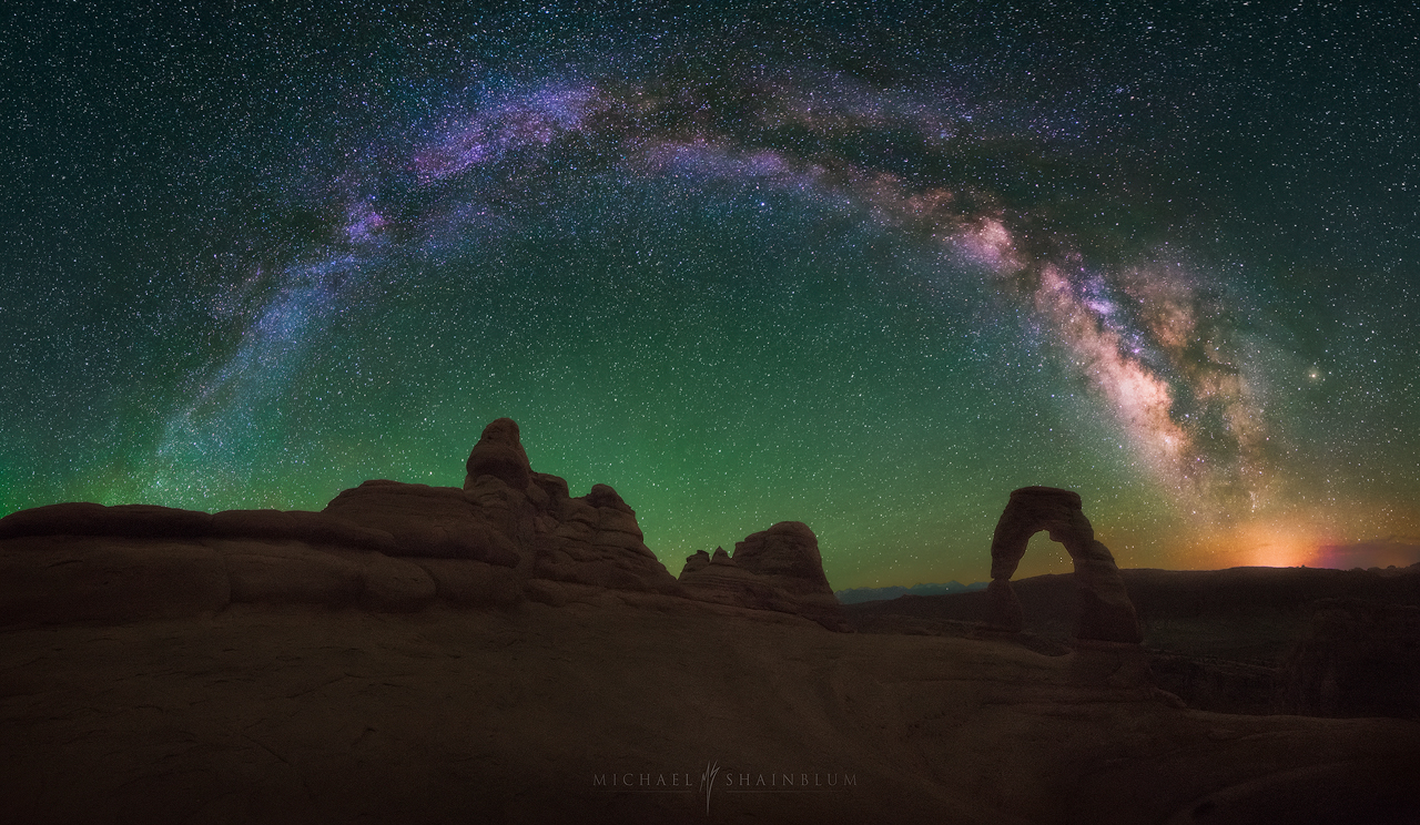 Delicate Arch Milky Way Night Sky Utah