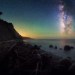 Milky Way Night Sky California Coastline