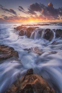 Coastline Waves Sunset