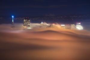 San Francisco Fog Night City