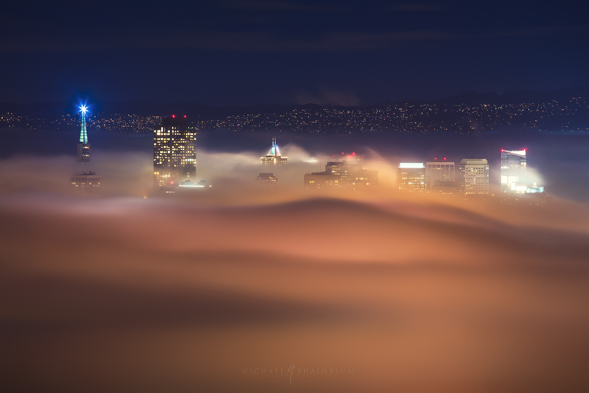 San Francisco Fog Night City
