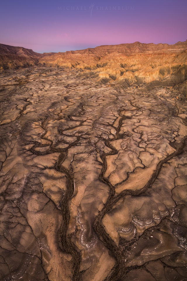 Cracks in Utah Aerial Photo.