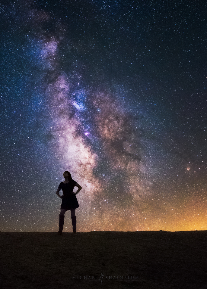 Milky Way Silhouette Girl