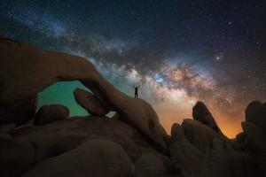 Galaxy Milky Way Arch Portrait Joshua Tree