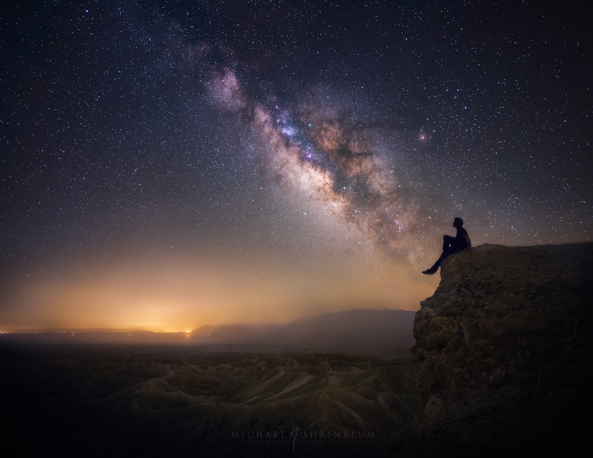 Milky Way Cliff Portrait Silhouette