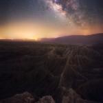 Milky Way Night Sky Desert Badlands