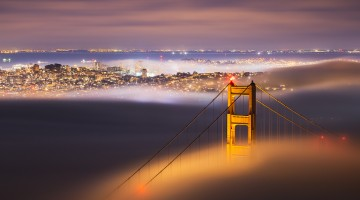 Golden Gate Bridge fog San Francisco