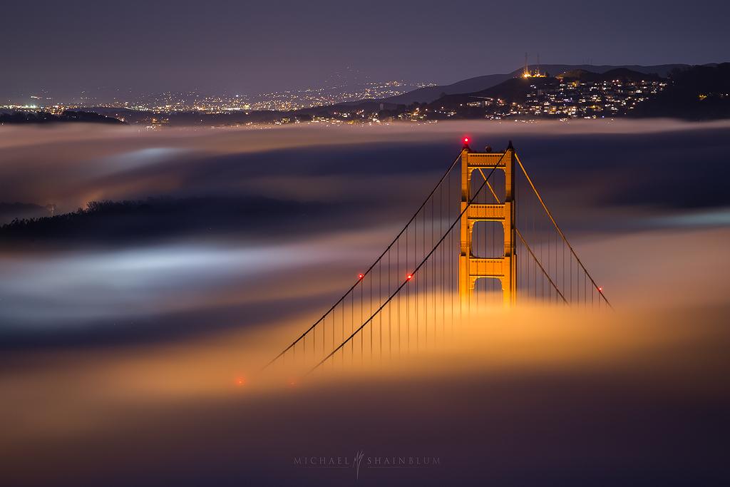Golden Gate Bridge fog San Francisco