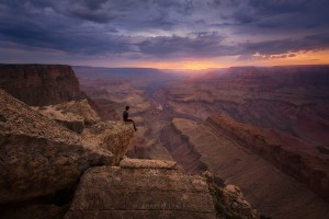 Grand Canyon Person Selfie Sunset