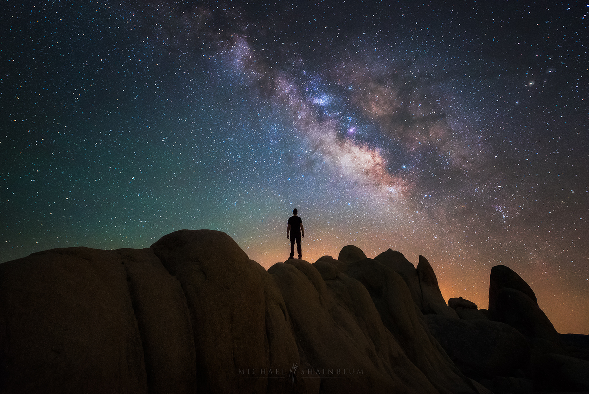 Joshua Tree Milky Way Desert Selfie Portrait