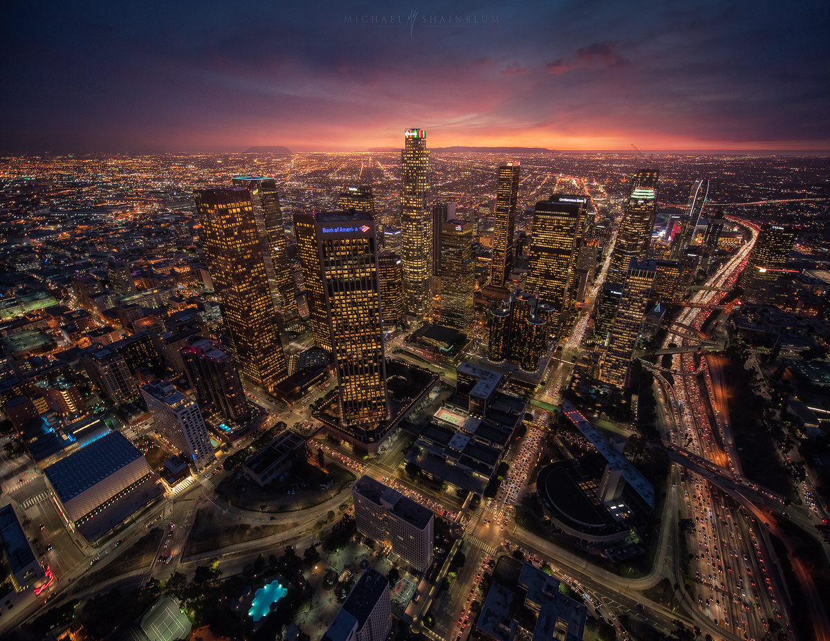 los angeles aerial 4k video
