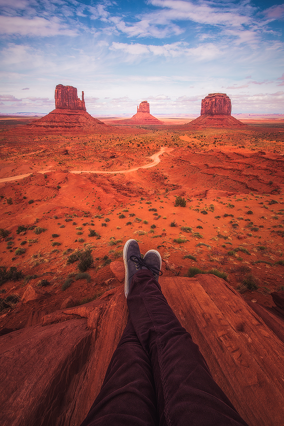 POV Legs Monument Valley Desert