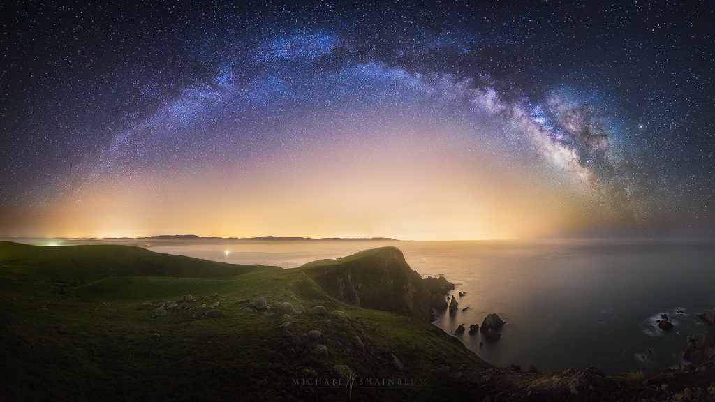 California Milky Way Point Reyes