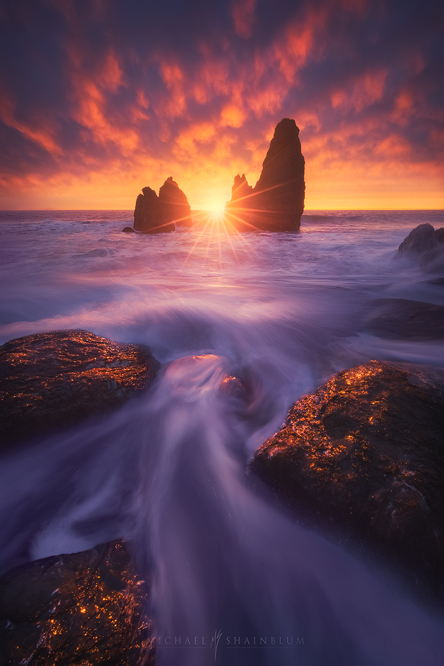 Rodeo Beach during sunset in San Francisco.