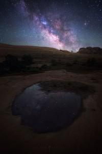 Reflection Utah Milky Way Night Sky