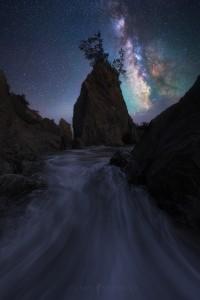 Coast Oregon Milky Way Galaxy