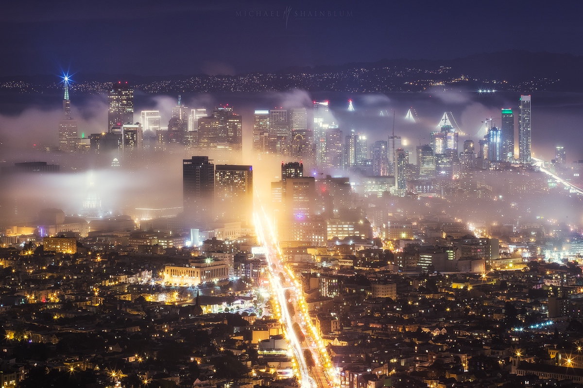 San Francisco fog, taken from Twin Peaks.