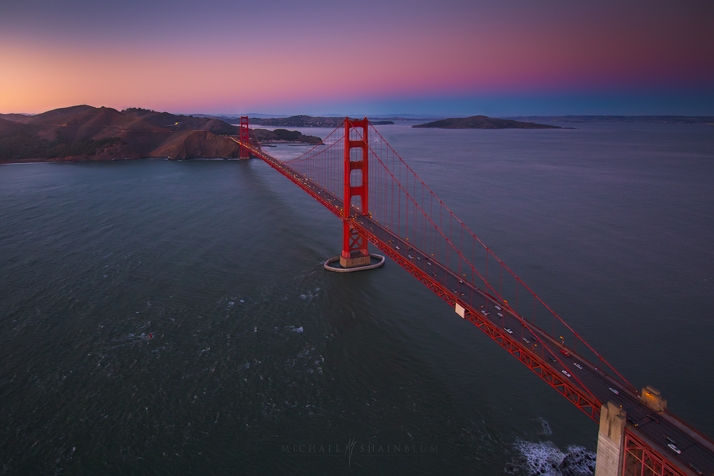 Golden Gate Bridge Aerial San Francisco