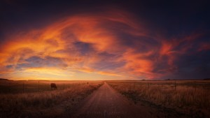 Sunset Panorama Road