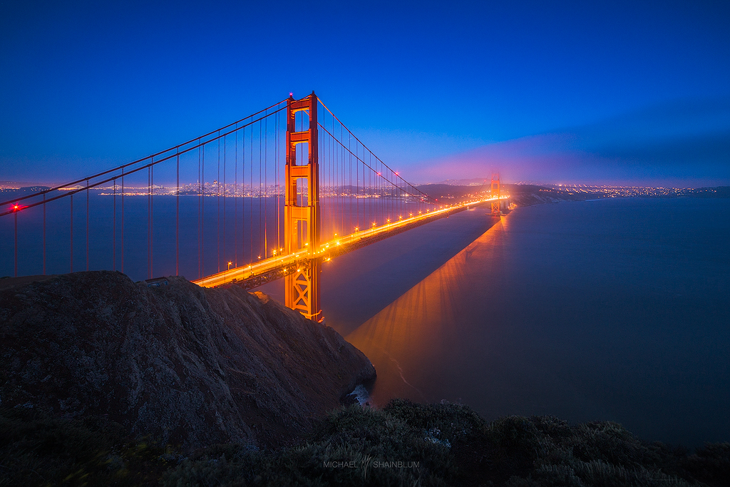 Golden Gate Bridge Night San Francisco