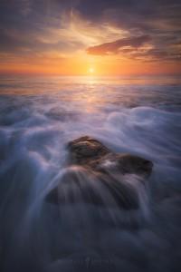 San Diego Waves Ocean Sunset