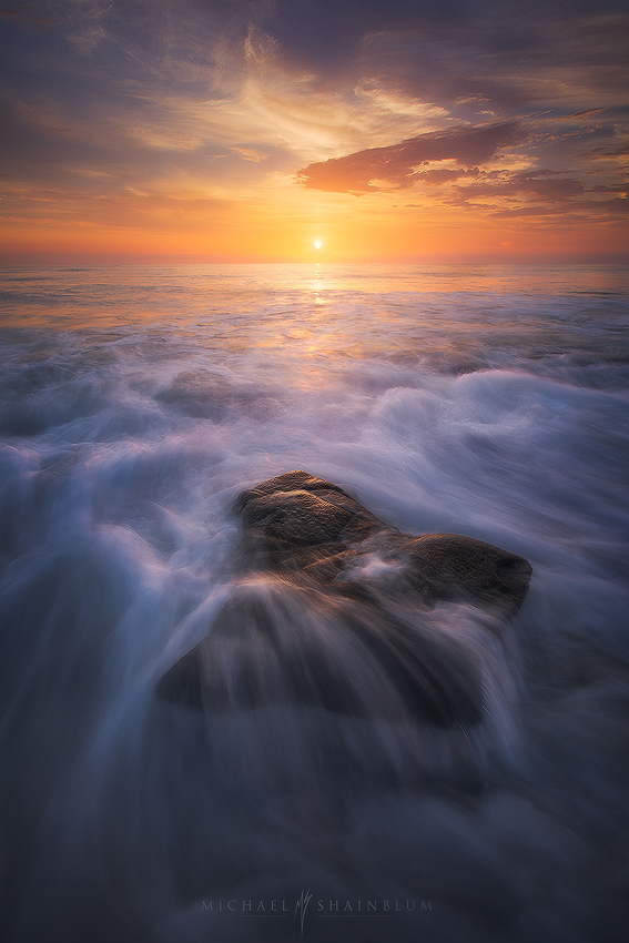 San Diego Waves Ocean Sunset