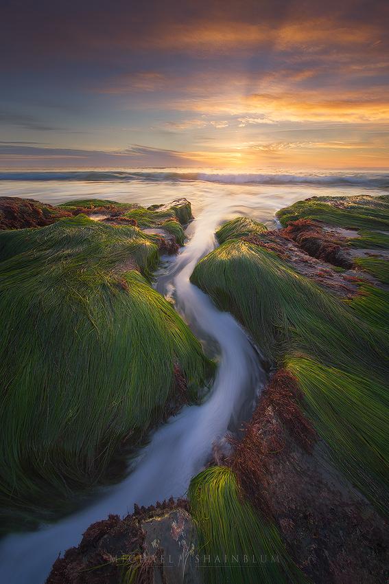 Sunset Cliffs Seascape in San Diego.