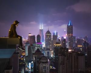 Shanghai China City Rooftop