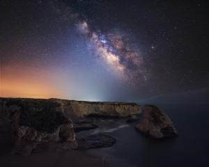 Shark Fin Cove Milky Way Ocean Galaxy