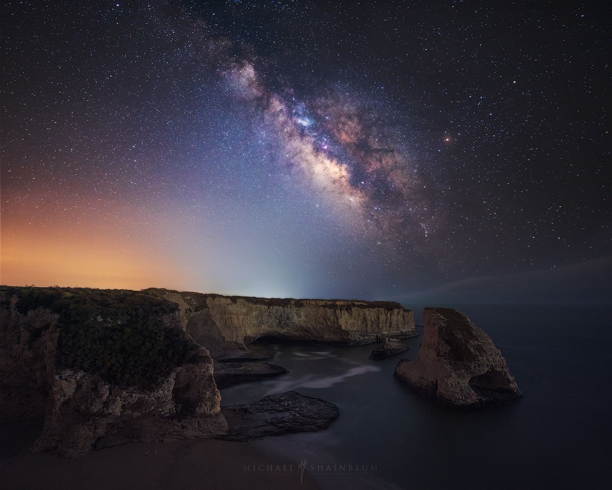 Shark Fin Cove Milky Way Ocean Galaxy