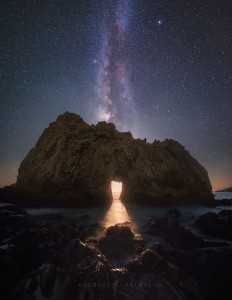 Pfeiffer Beach Moon Milky Way Big Sur California