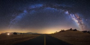Milky Way Road Night Sky