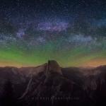 Yosemite Half Dome Milky Way photography