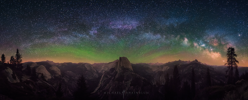 Yosemite Half Dome Milky Way photography