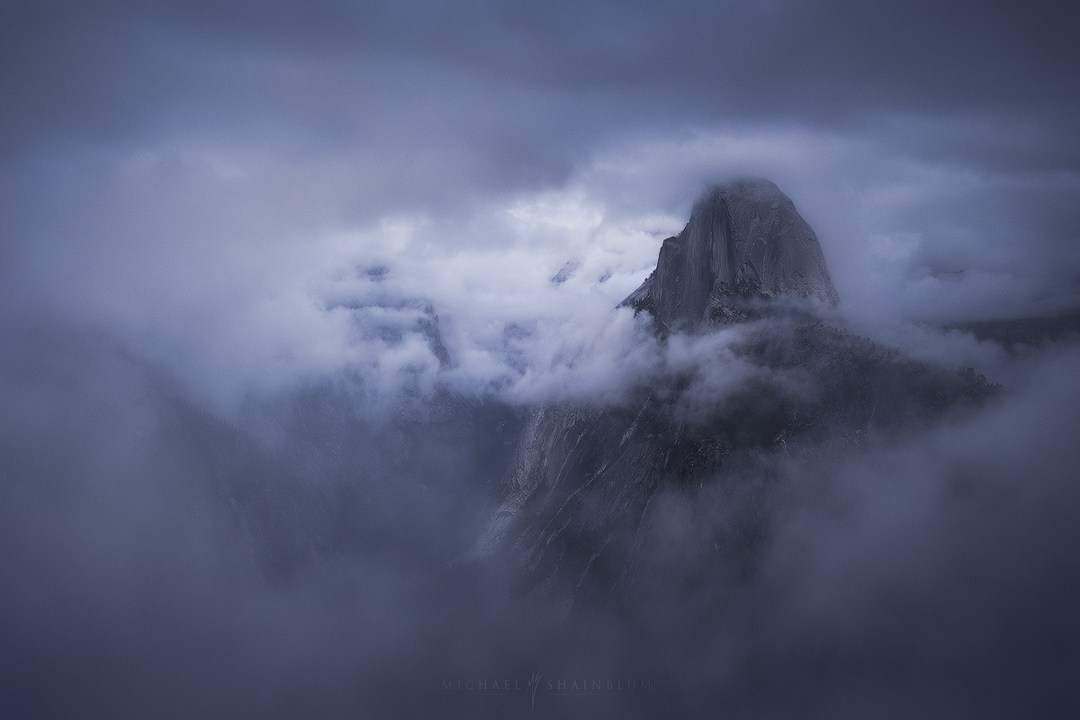 Yosemite Half Dome Storm Clouds Glacier Point