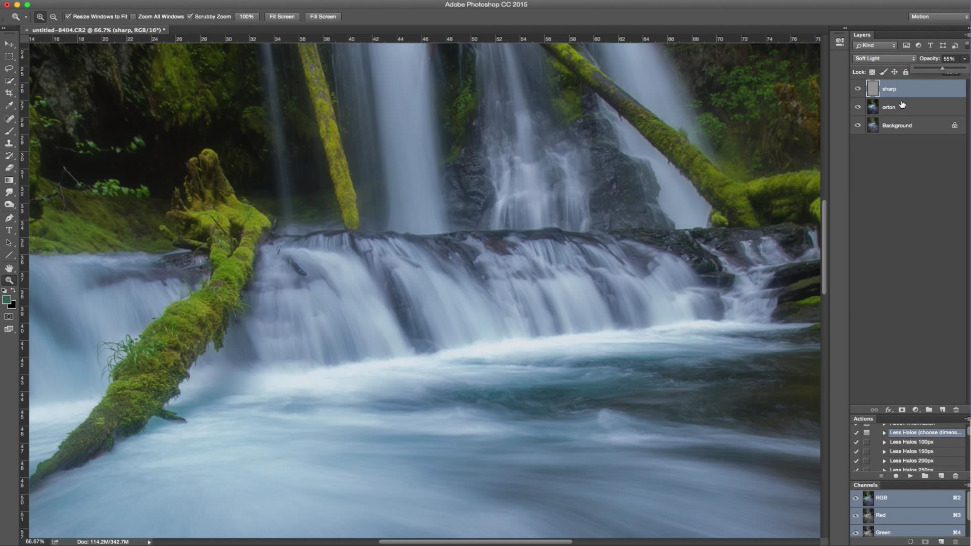 Landscape Photography Photoshop Tutorial, Orton Effect