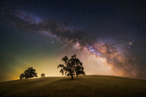 Milky Way Galaxy in California