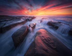 Seascape image taken in San Diego California.