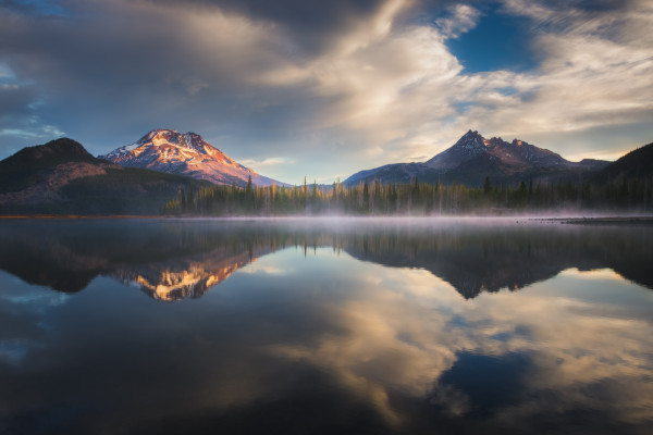 Sparks Lake Oregon, Mountain Reflections