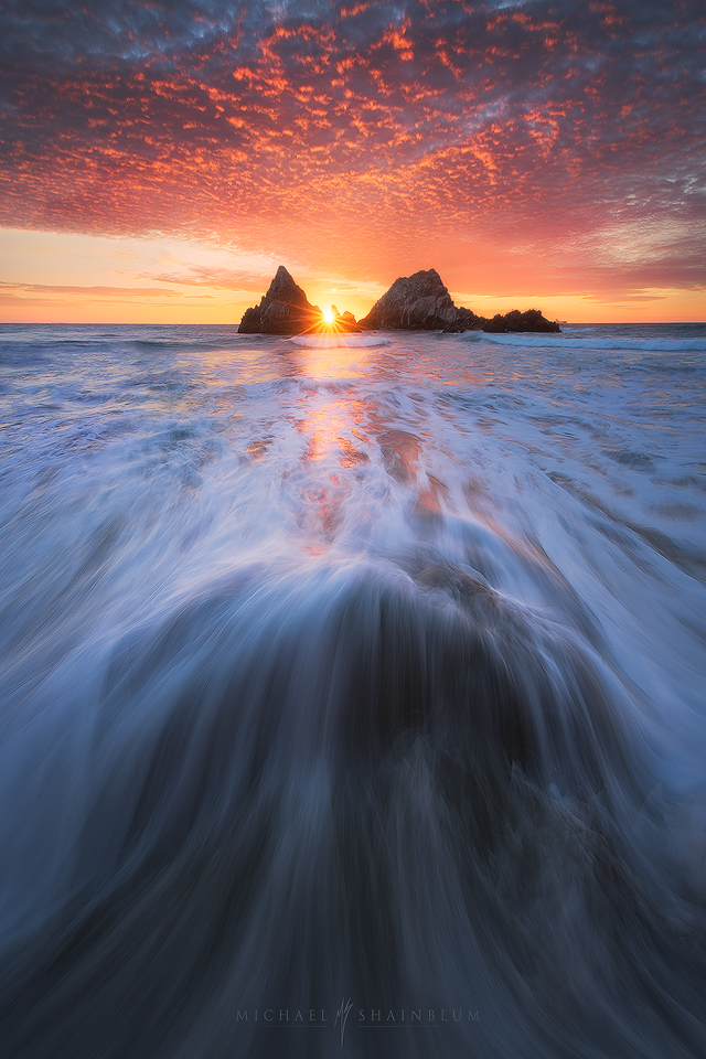 Sutro Baths, San Francisco Sunset.