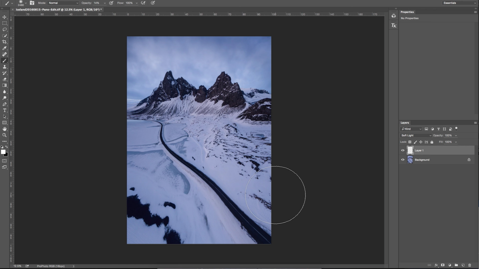 Landscape Photography Photoshop Tutorial: Dodge and Burn