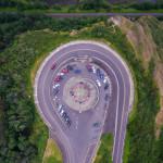 vista house oregon aerial photography