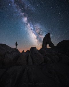 milky way timelapse california photo