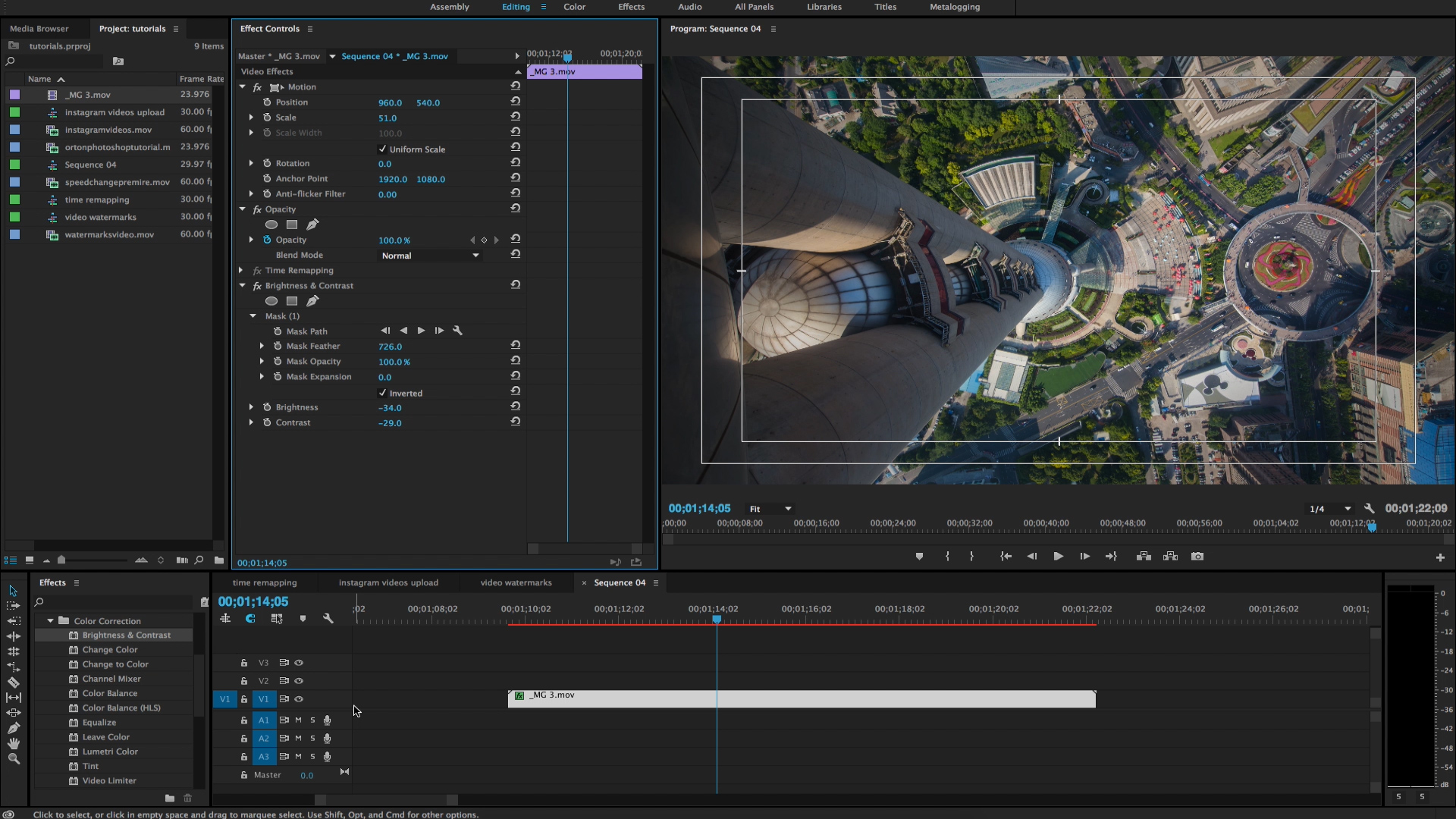 How to Vignette Footage in Adobe Premiere CC