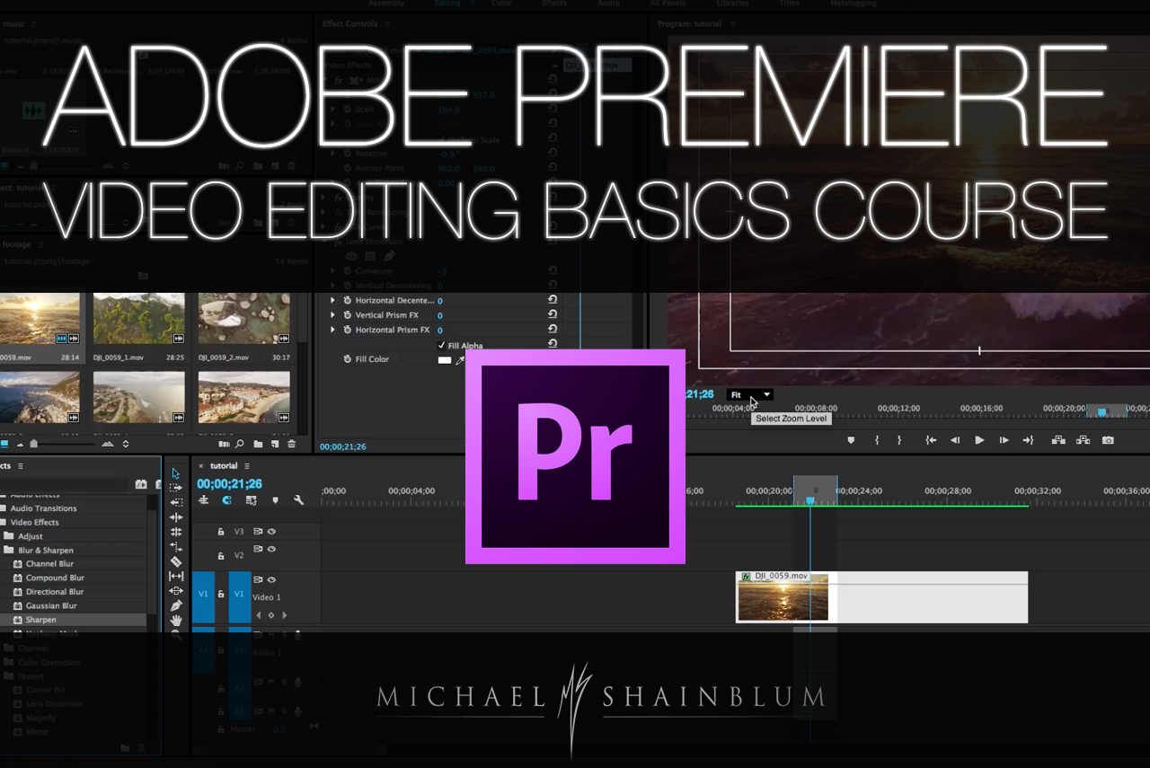 Adobe premiere video editing tutorial basics michael shainblum adobe premiere video editing tutorial baditri Choice Image