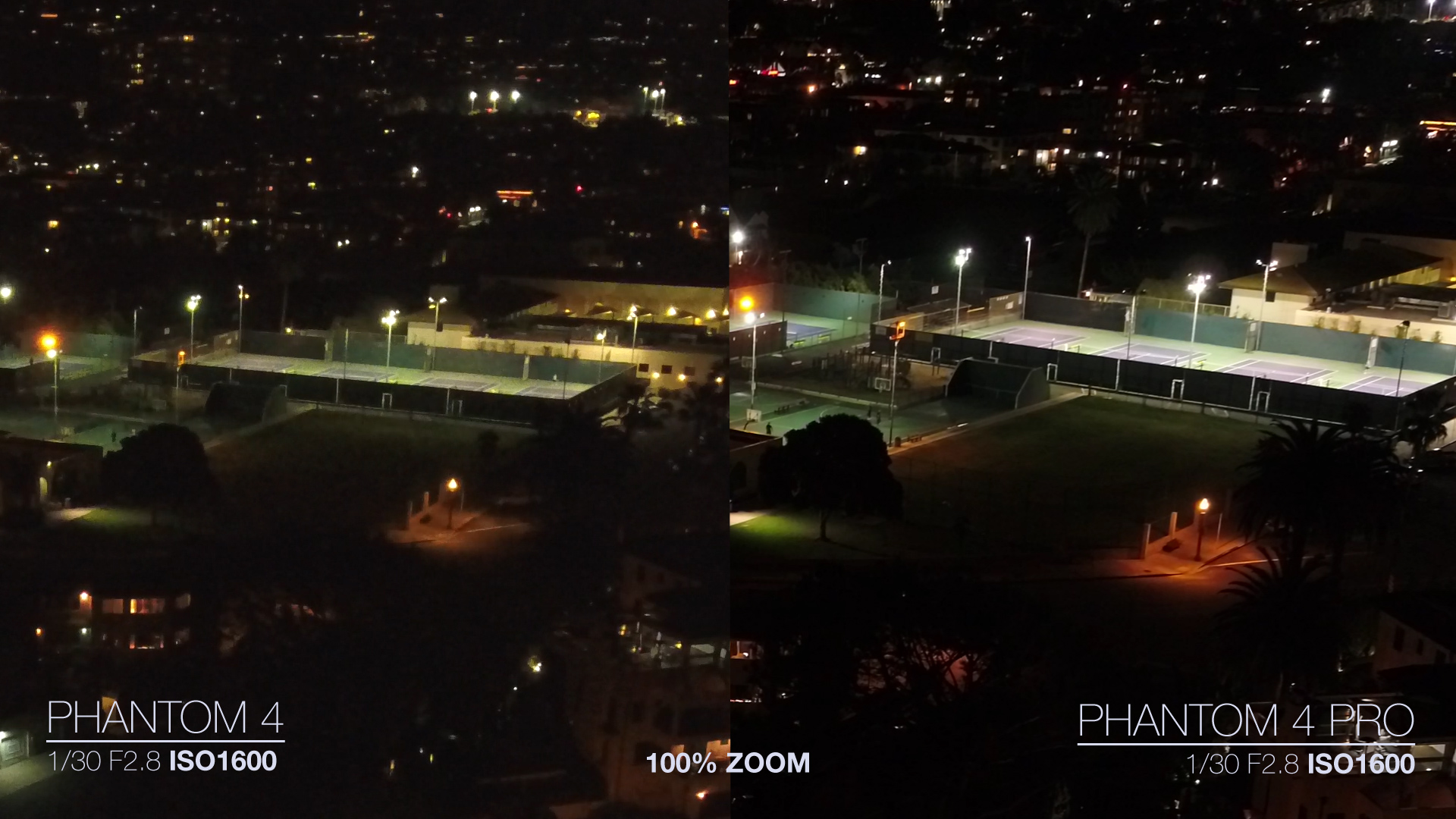 DJI Phantom 4 Pro VS Phantom 4 Low light Video ISO Comparison & Phantom 4 Pro VS Phantom 4 Low light Video ISO Comparison azcodes.com