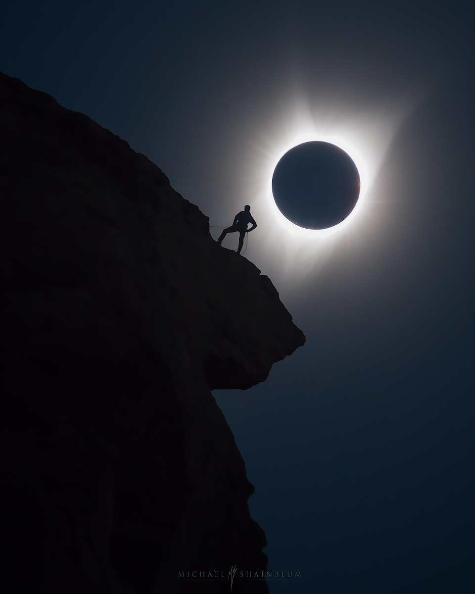 Total Solar Eclipse Smith Rock Oregon Climber