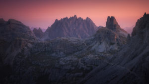 Dolomites Mountain Sunrise