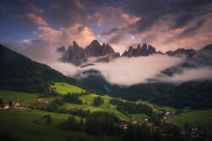 Dolomites sunset landscape photo